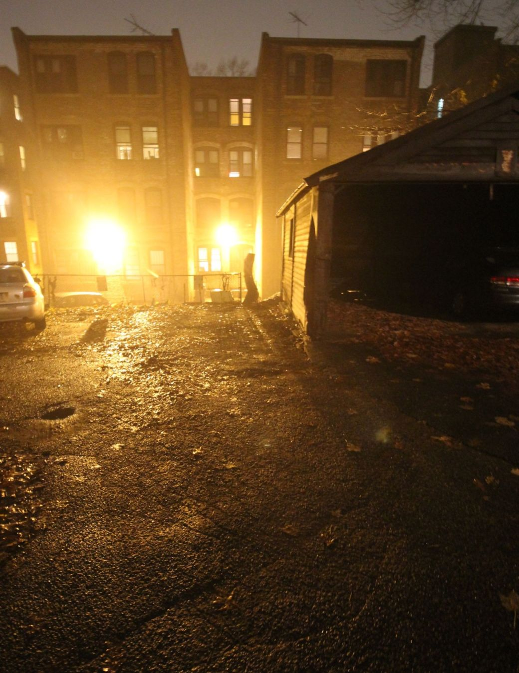 boston allston kelton street rain night 3