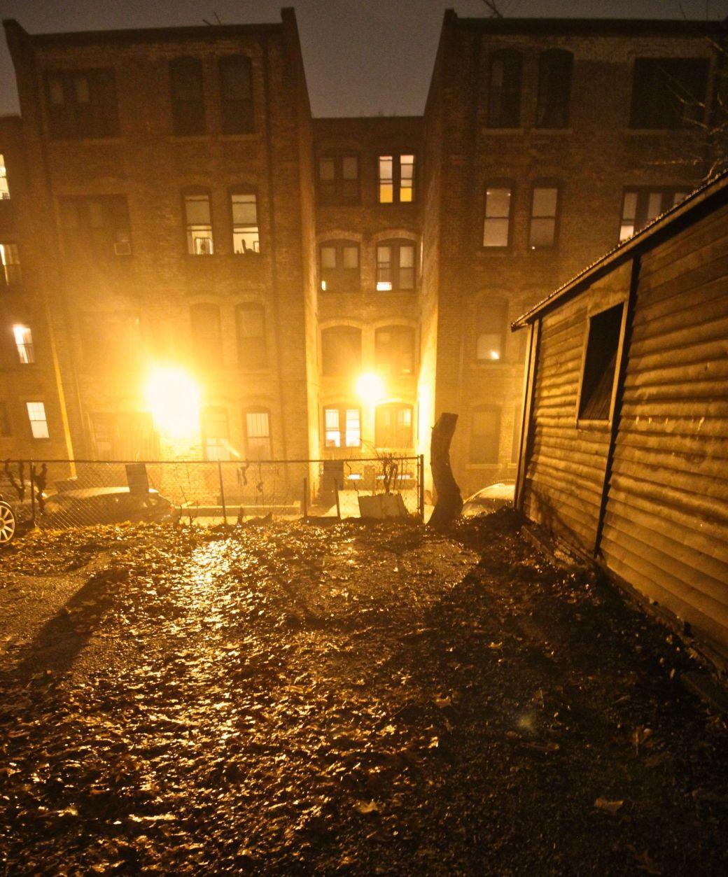 boston allston kelton street rain night 6