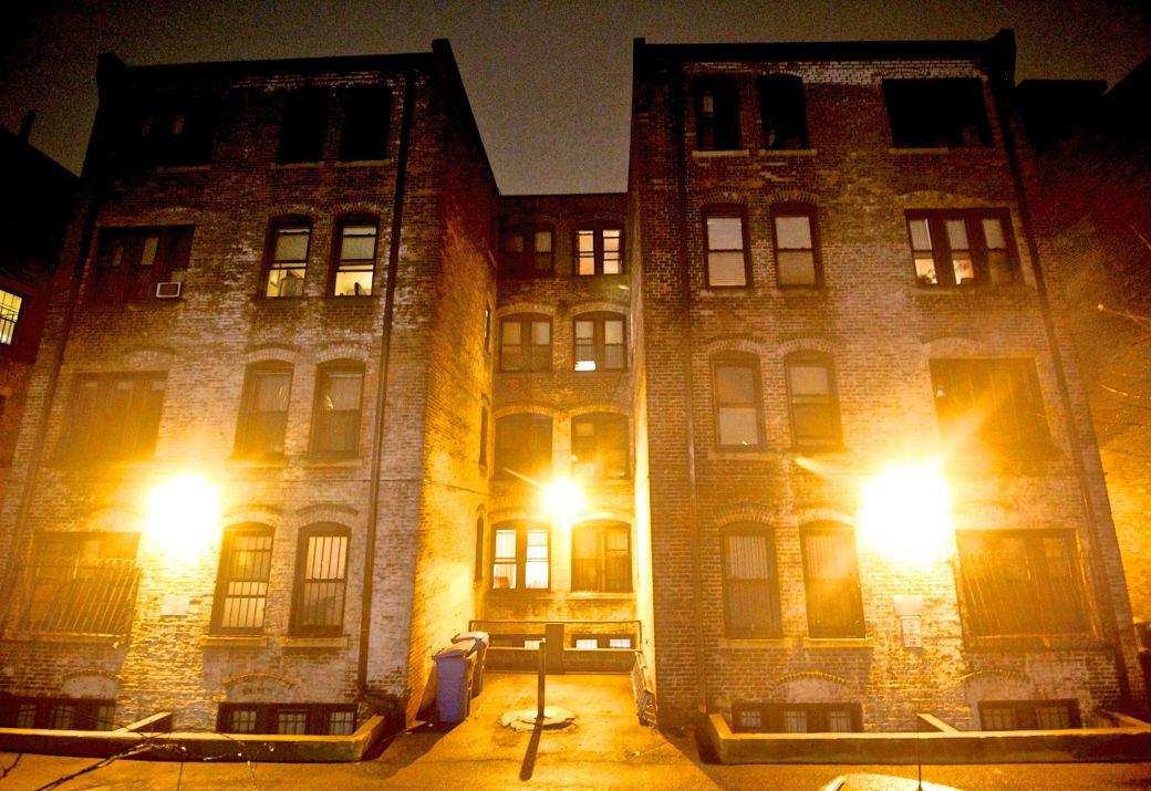 boston allston kelton street rain night 7