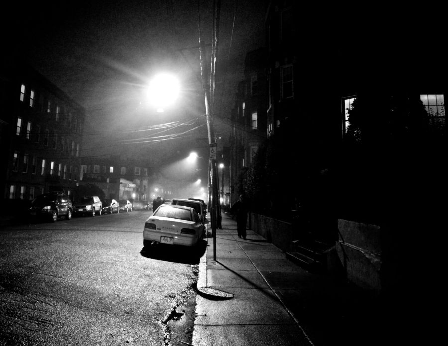 boston allston kelton street rain night