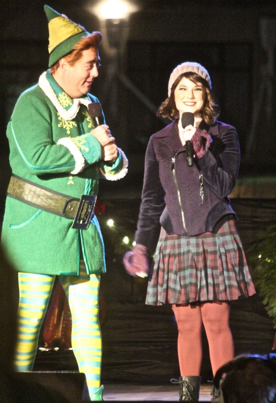 boston common christmas tree lighting december 3 2015 elf performers