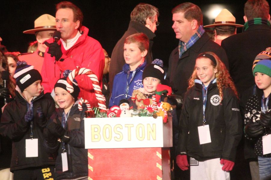 boston common christmas tree lighting december 3 2015 marty walsh tree lighting moment