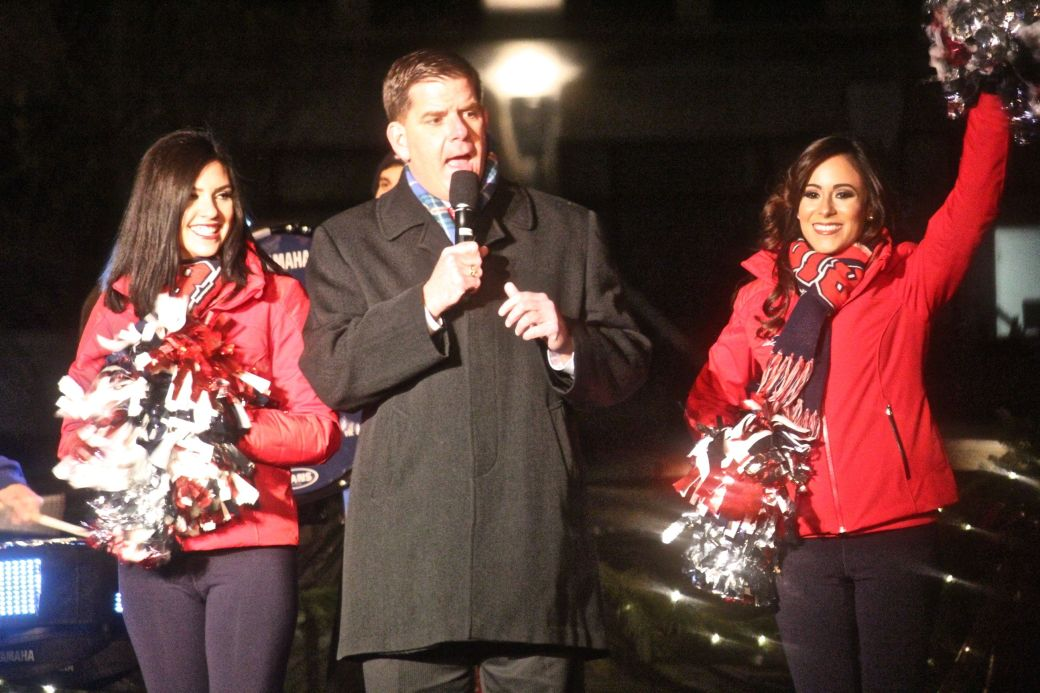 boston common christmas tree lighting december 3 2015 marty walsh