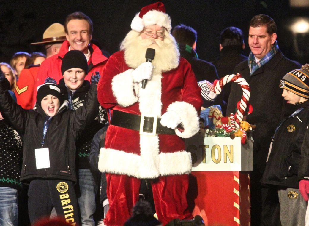 boston common christmas tree lighting december 3 2015 santa claus