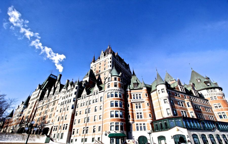 quebec quebec city chateau frontenac full view