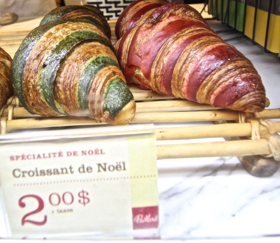 quebec quebec city paillard cafe green red croissants
