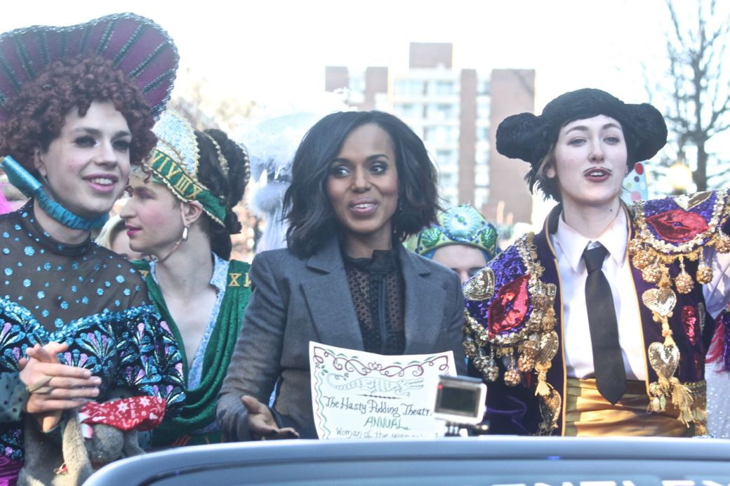 cambridge hasty pudding parade kerry washington january 28 2016 1