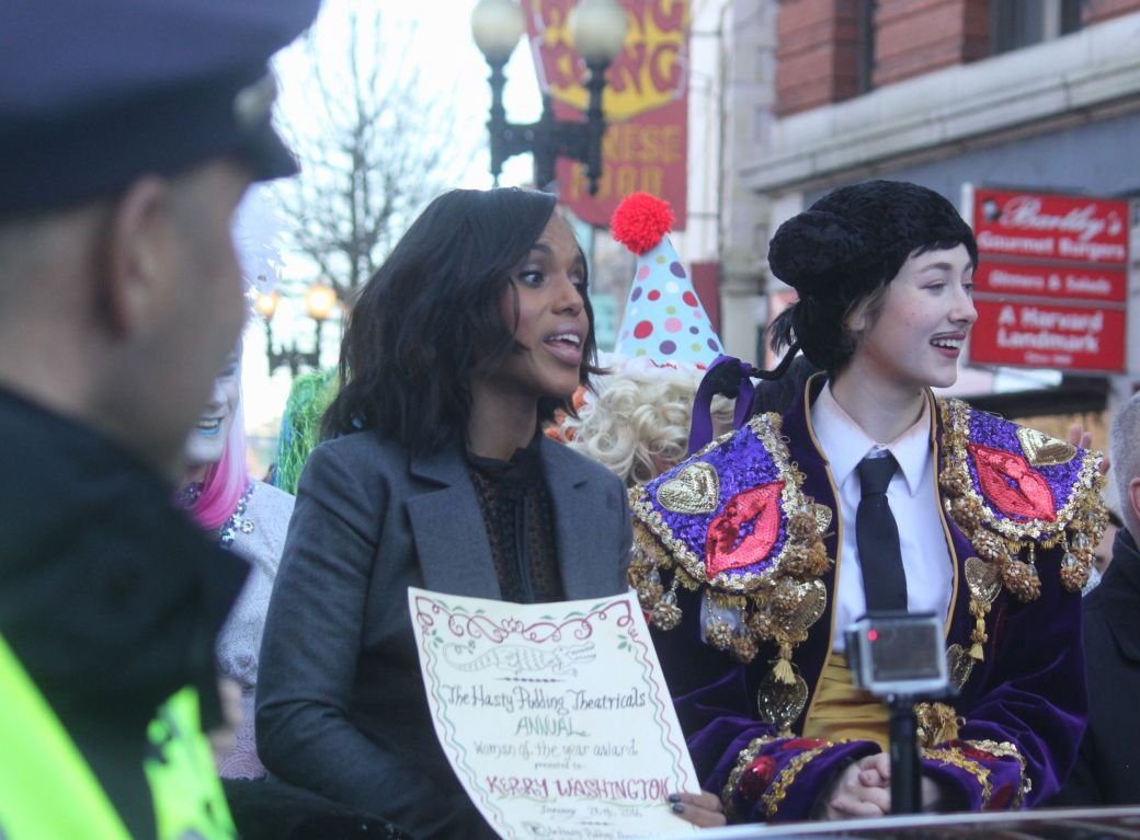 cambridge hasty pudding parade kerry washington january 28 2016 2