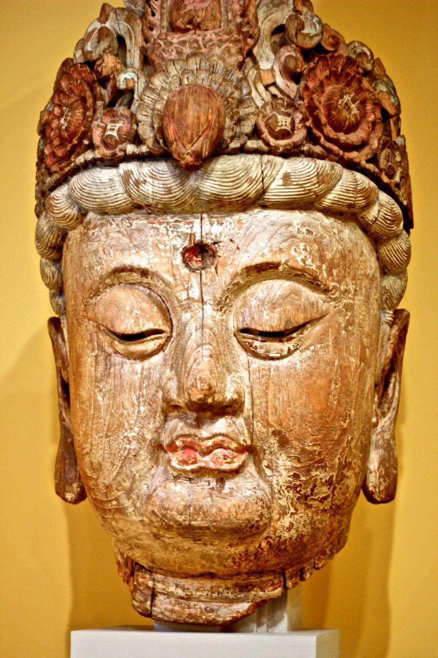 worcester art museum buddha head 2