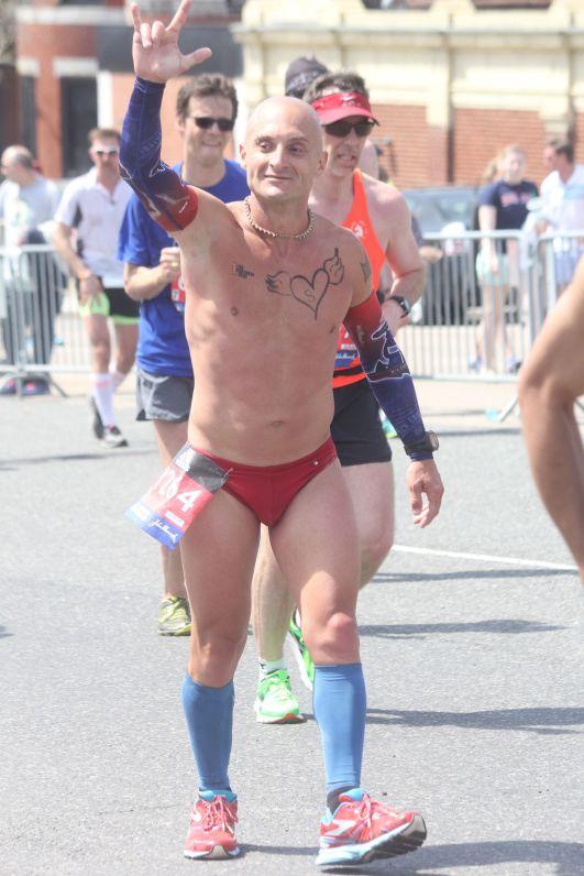 boston marathon april 18 2016 group man in red speedo
