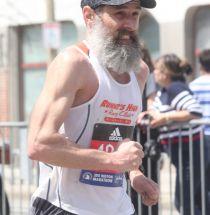 boston marathon april 18 2016 group runner with beard