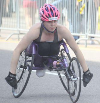 boston marathon april 18 2016 handicapped competitor 2