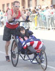 boston marathon april 18 2016 handicapped runner