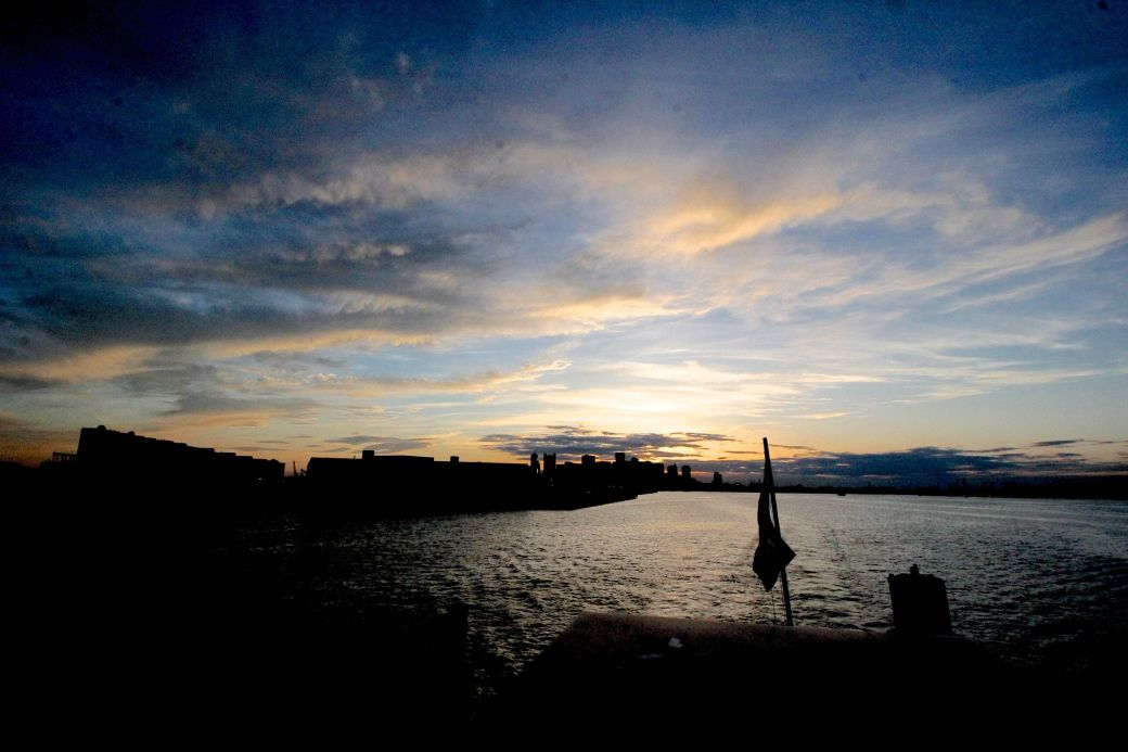 boston boat sunset view harbor
