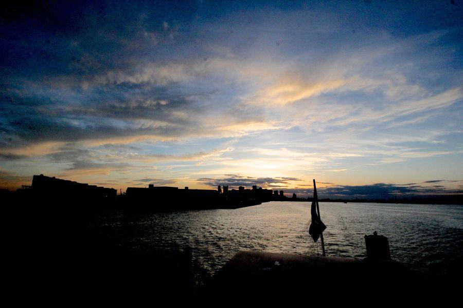 boston boat sunset view harbor