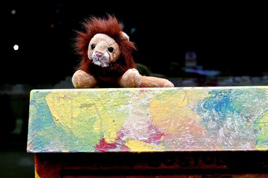 boston downtown lion