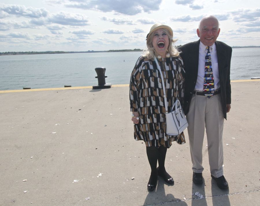 boston spectacle island couple laughing