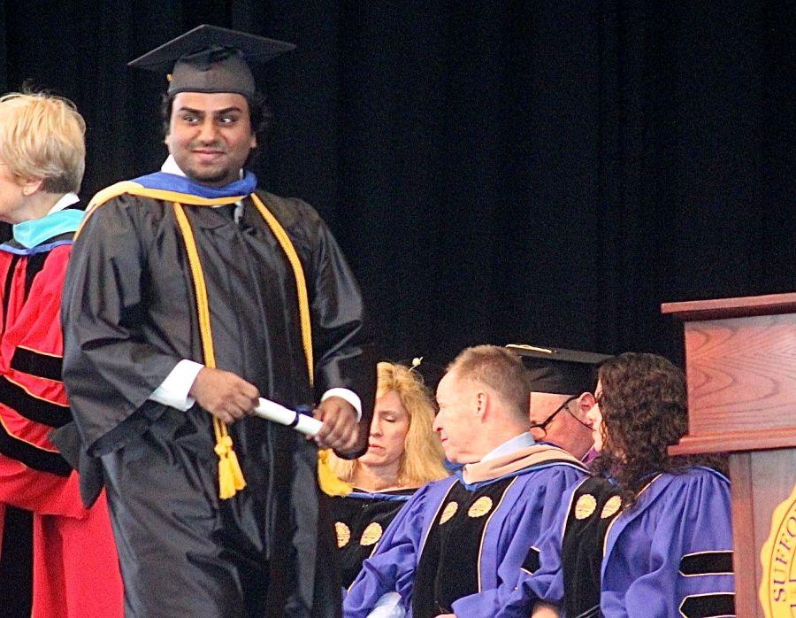 boston suffolk university graduation friend graduating