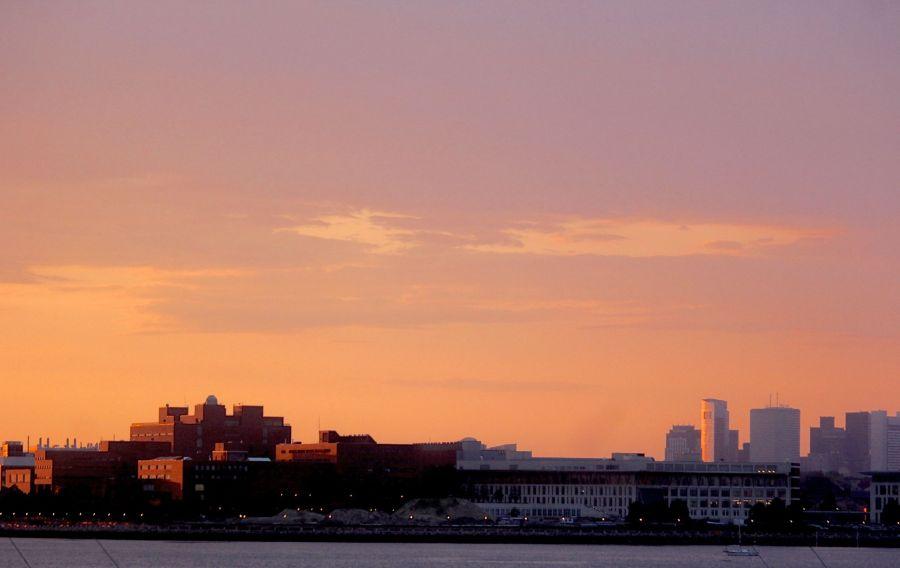 boston umass boston sunset