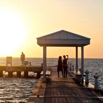 cayman islands rum point sunset 2