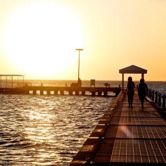 cayman islands rum point sunset