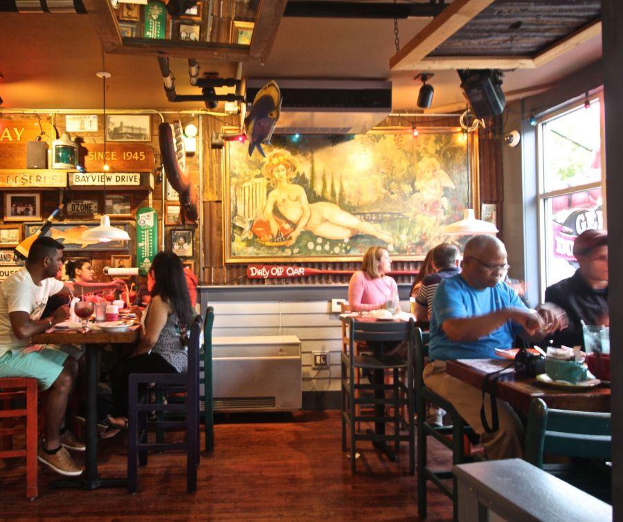 maine mount desert island bar harbor geddy's restaurant 1