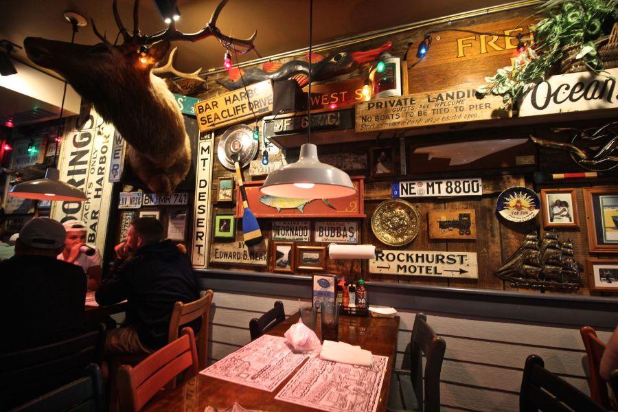 maine mount desert island bar harbor geddy's restaurant 3