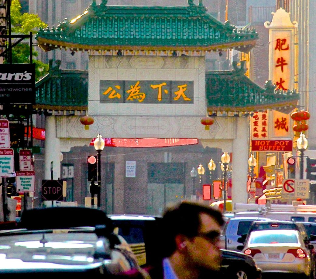 boston chinatown street view