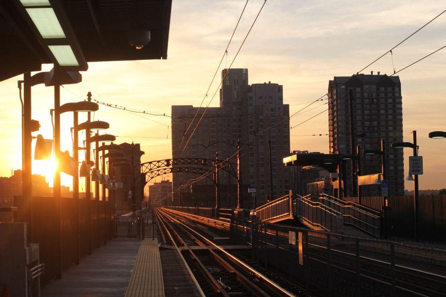 cambridge lechmere station sunset