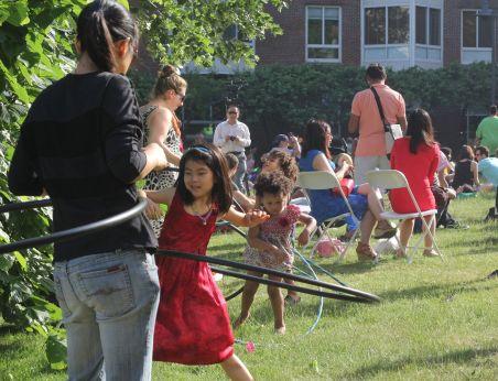 cambridge river festival girl with hula hoop
