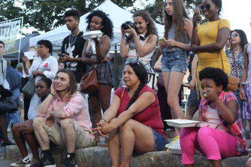 cambridge riverfest people watching acrobat