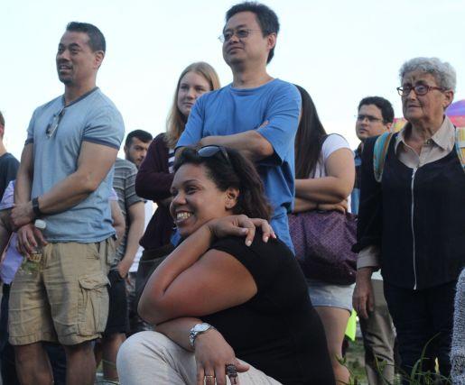 cambridge riverfest people watching acrobats 2
