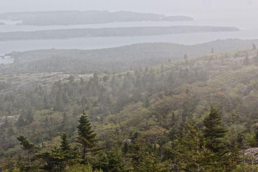 maine mount desert island cadillac mountain mist 3