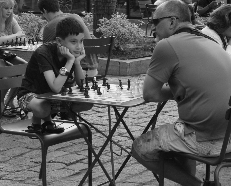boston faneuil hall boy chess board