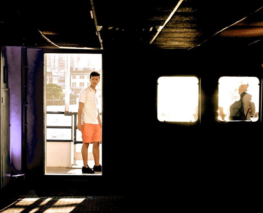 boston harbor boat inside sunset 3