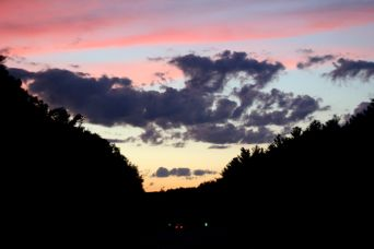 rhode island massachusetts drive sunset july 3 11