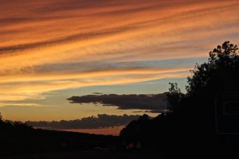 rhode island massachusetts drive sunset july 3 7