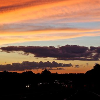 rhode island massachusetts drive sunset july 3 8