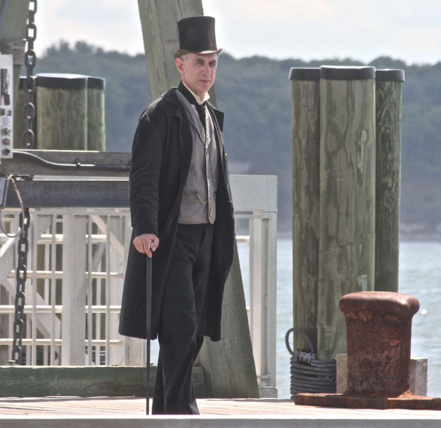 boston georges island man in suit and top hat 2