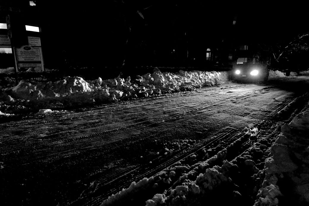 boston brookline snow darkness