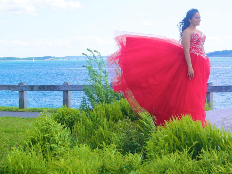 boston winthrop girl in red dress 2