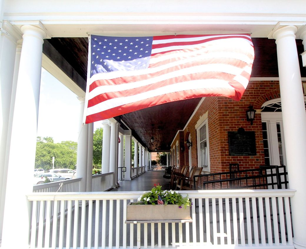 berkshires massachusetts lenox American flag
