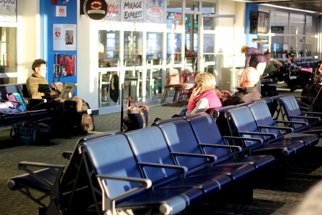 worcester airport people waiting 1