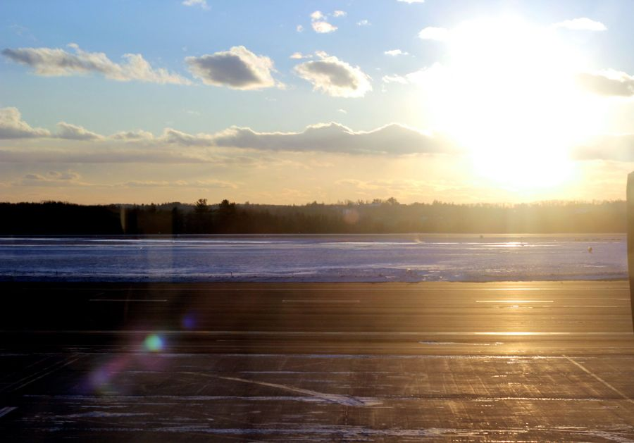 worcester airport sunset 1