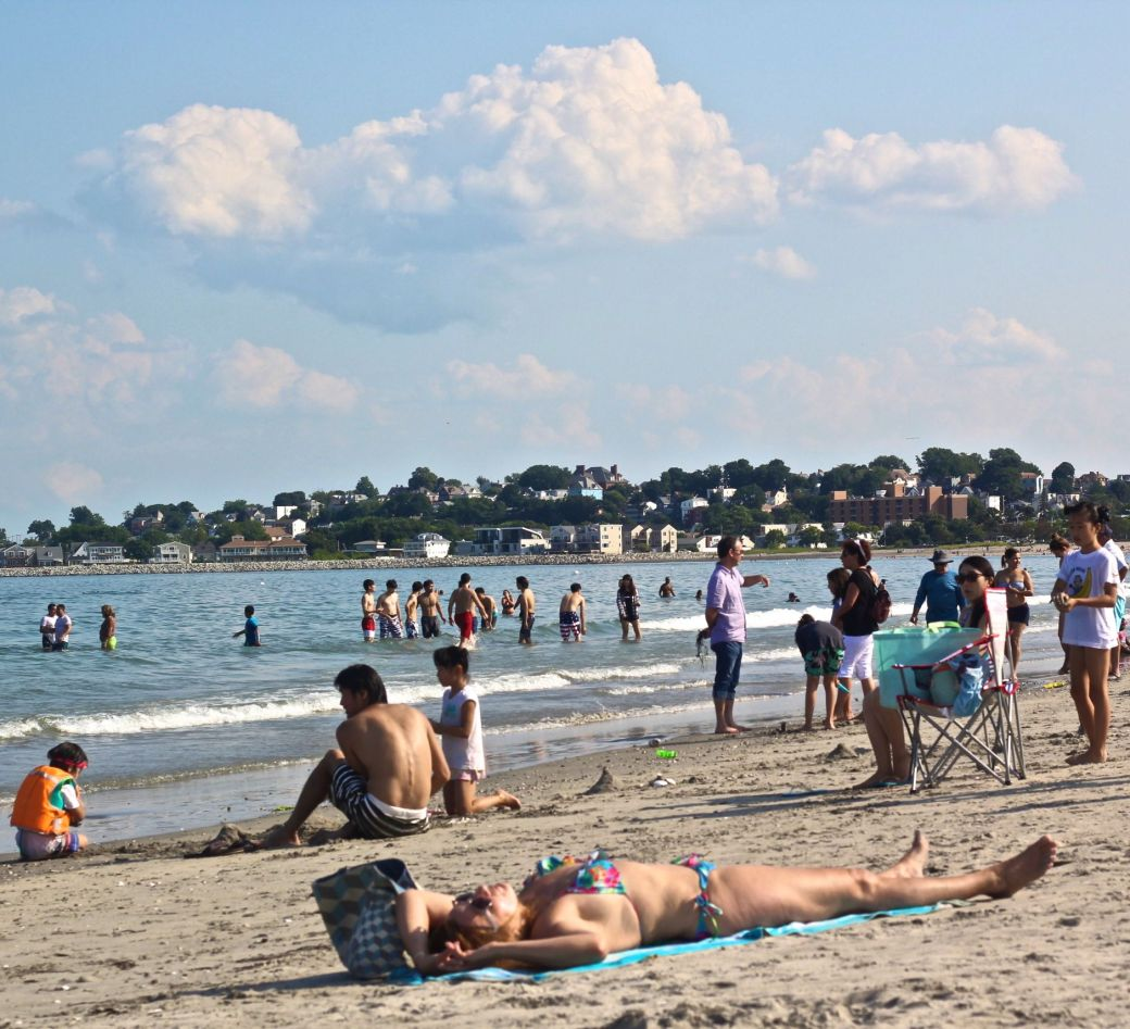 revere beach woman in bikini