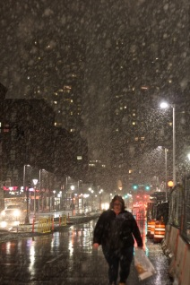 boston north station haymarket first snow fall november 15 2018 2
