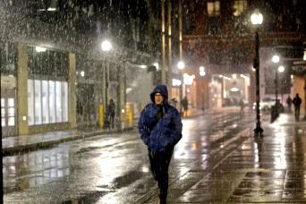 boston north station haymarket first snow fall november 15 2018 5