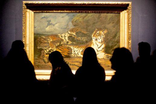 new york metropolitan museum of art delacroix exhibit tiger painting people