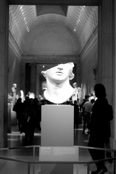 new york metropolitan museum of art greek statue half face