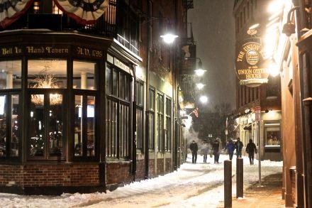 boston haymarket snow february 12 2019 bell in hand tavern